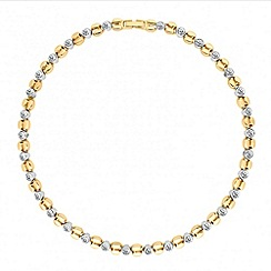 Jon Richard - Polished gold and crystal link necklace