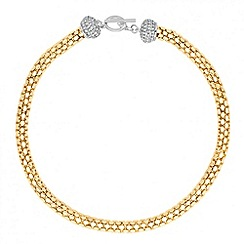 Jon Richard - Statement two tone crystal t-bar necklace