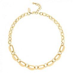 Jon Richard - Polished gold scalloped chain link necklace