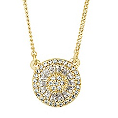 Jon Richard - Cubic zirconia set circular pendant necklace