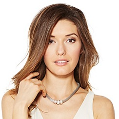 Jon Richard - Triple tone crystal disc mesh chain necklace