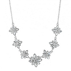 Alan Hannah Devoted - Designer graduated crystal cluster flower necklace