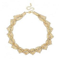 Jon Richard - Statement diamante and polished bead necklace