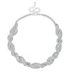 Jon Richard - Statement diamante crystal twist necklace