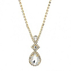 Jon Richard - Diamante crystal teardrop pendant necklace