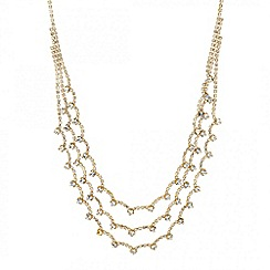 Jon Richard - Diamante triple row waterfall necklace