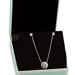 Jon Richard - Two tone cubic zirconia clara drop necklace
