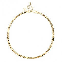 Jon Richard - Polished gold textured link chain necklace