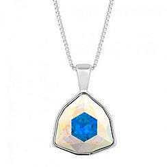 Jon Richard - Aurora borealis triangular crystal drop necklace MADE WITH SWAROVSKI ELEMENTS