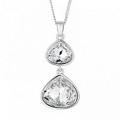 Jon Richard - Double crystal peardrop necklace MADE WITH SWAROVSKI ELEMENTS