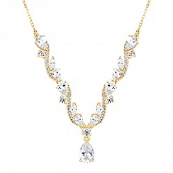 Jon Richard - Cubic zirconia cluster teardrop necklace