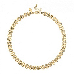 Jon Richard - Crystal encased navette collar necklace
