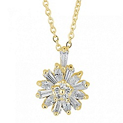 Jon Richard - Cubic zirconia floral pendant necklace