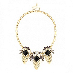 Jon Richard - Statement crystal embellished fan drop necklace