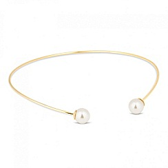 Jon Richard - Polished gold and pearl torque necklace