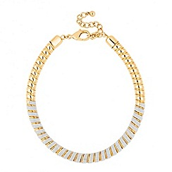Jon Richard - Stardust effect gold twist necklace
