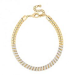 Jon Richard - Stardust effect gold twist necklace