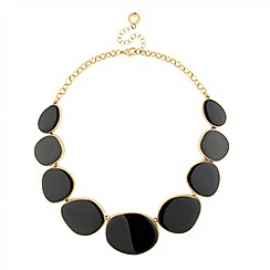 Jon Richard - Graduated grey pebble necklace