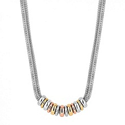 Jon Richard - Triple tone disc mesh chain necklace