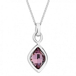 Jon Richard - Antique pink lemon fancy drop necklace MADE WITH SWAROVSKI ELEMENTS
