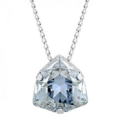 Jon Richard - Crystal blue triangular drop necklace MADE WITH SWAROVSKI ELEMENTS