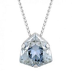 Jon Richard - Crystal blue triangular drop necklace MADE WITH SWAROVSKI ELEMENTS