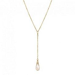 Jon Richard - Golden shadow crystal y drop necklace MADE WITH SWAROVSKI ELEMENTS