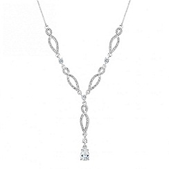 Alan Hannah Devoted - Designer cubic zirconia twist y drop necklace
