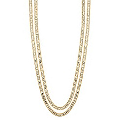 Jon Richard - Diamante crystal and gold bead chain necklace