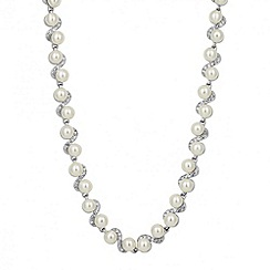 Jon Richard - Pearl and crystal twist chain necklace