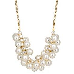 Jon Richard - Statement cream pearl cluster necklace