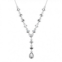 Jon Richard - Square crystal teardrop necklace