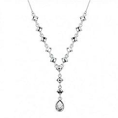 Jon Richard - Square crystal teardrop necklace