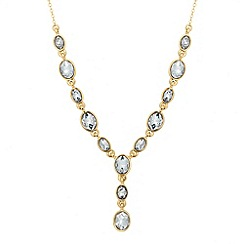 Jon Richard - Oval stone link y drop necklace