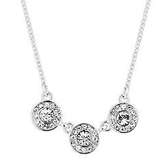 Jon Richard - Clara triple crystal drop necklace MADE WITH SWAROVSKI ELEMENTS