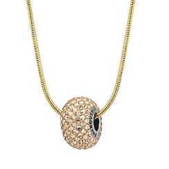 Jon Richard - Golden shadow crystal bead drop necklace MADE WITH SWAROVSKI ELEMENTS