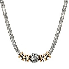 Jon Richard - Rose gold disc magnetic mesh chain necklace
