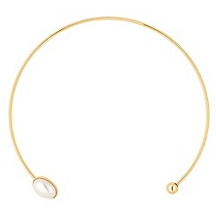 Jon Richard - Online exclusive pearl encased polished gold torque