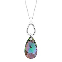 Jon Richard - Paradise shine crystal teardrop pendant necklace MADE WITH SWAROVSKI ELEMENTS