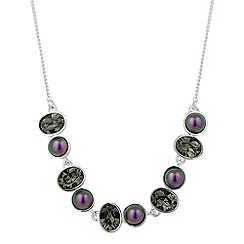 Jon Richard - Blackberry pearl and grey crystal necklace MADE WITH SWAROVSKI ELEMENTS