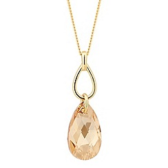 Jon Richard - Golden shadow crystal peardrop necklace MADE WITH SWAROVSKI ELEMENTS