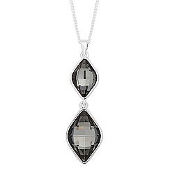 Jon Richard - Silver night crystal lemon fancy necklace MADE WITH SWAROVSKI ELEMENTS