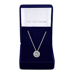 Jon Richard - Cubic zirconia two tone round drop necklace