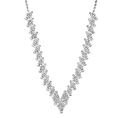 Jon Richard - Diamante crystal diamond shaped link necklace