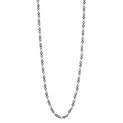 Jon Richard - Triple tone pearl chain necklace