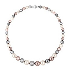 Jon Richard - Triple tone pearl chain magnetic necklace