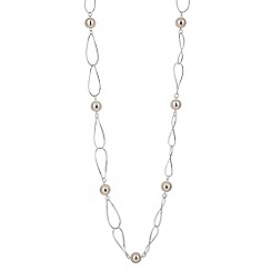 Jon Richard - Pearl and gold metal link rope necklace