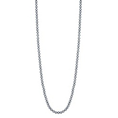 Jon Richard - Grey pearl long chain necklace
