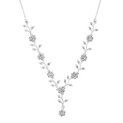 Jon Richard - Vine crystal encased y drop necklace