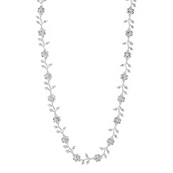 Jon Richard - Vine pearl and crystal encased link necklace